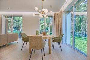 modern table and chairs - clean windows
